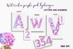 Purple pink hydrangea floral Alphabet Product Image 2