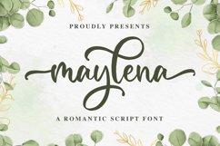 Maylena a Romantic Script Font Product Image 1