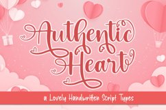 Authentic Heart a Lovely Handwritten Type Product Image 1