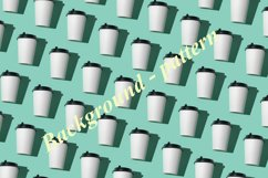 Paper cup turquoise background Product Image 2