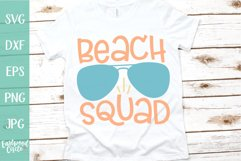 Beach Squad - A Beach SVG Cut File for Crafters Product Image 1