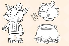 Three Little Pigs Digital Stamps Product Image 5