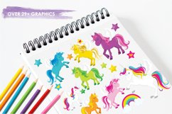 Unicorns and Rainbows graphics and illustrations Product Image 3