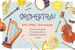 Orchestra! Set of vector musical instruments Product Image 1