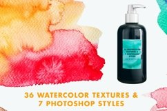 Vector & JPG Watercolor Textures & Photoshop Effect Styles Product Image 2