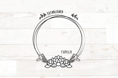 Vol 2 - Family Monogram Sign Bundle Floral Product Image 6