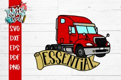 Essential Worker Truck Driver SVG Product Image 2