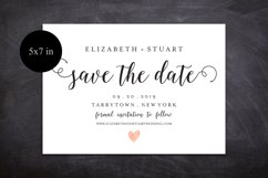 save the Date Template, Printable Save the Date Postcard Product Image 3
