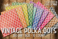 Vintage Polka Dots Digital Papers Product Image 2
