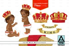 Red Gold Baby Boy Prince PNG, Clipart set, background Product Image 1