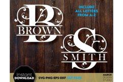 Family Monogram SVG, Letter Monogram SVG, A-Z Monogram SVG Product Image 3