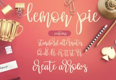 Lemon Pie Modern Hand Lettered Script Font Product Image 3