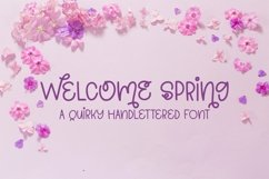 Web Font Welcome Spring - A Quirky Hand-Lettered Font Product Image 1