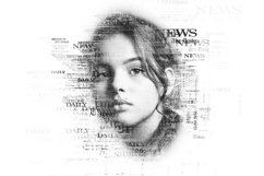 Newspaper Text Photoshop Action Product Image 3