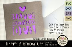 Happy Birthday Opa Card SVG - Birthday Card Cutting File Product Image 1