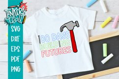 100 Days of School Building Futures SVG Product Image 1