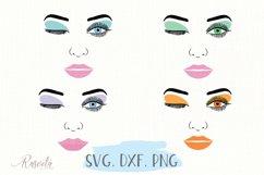 Make up svg Female Face Makeup Eyelashes Eyes Lips /3 Product Image 3