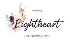 Lightheart Lovely Emotional Script font Product Image 1