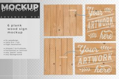 Wood sign mockup with 1 to 6 planks Product Image 6