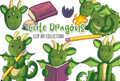 Cute Dragons Clip Art Collection Product Image 1