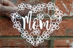 Mom paper cut SVG / DXF / EPS files Product Image 2
