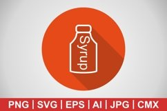 Vector Syrup Icon Product Image 1