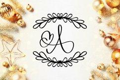 Web Font Laurel With Monogram Font - A-Z Letters Product Image 3
