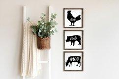 Moo Cluck Oink Farm Animal Trio SVG's   Farmhouse SVG Product Image 1