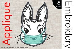 Applique Doctor Bunny - Embroidery Files - 1488e Product Image 1