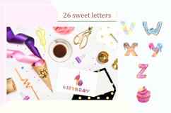 Sweet alphabet. Watercolor letter Product Image 4