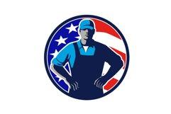 American Organic Farmer USA Flag Mascot Product Image 1