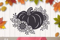 Floral Pumpkin svg, Halloween Floral Decor, Fall svg Product Image 5