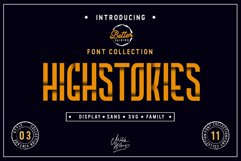 Highstories Family / Extra SVG Font Product Image 1