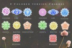 Chakra sybmols. Mandala set, Yoga, boho style.2 variatio Product Image 5