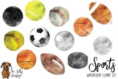 Sports Watercolor Clipart Product Image 2