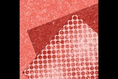 42 Living Coral Glowing Glitter Sequin Digital Papers Product Image 5