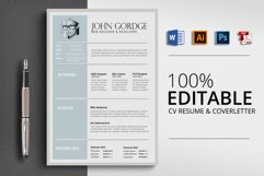 Word Resume CV Template Product Image 1