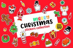 Merry Christmas Stickers Bundle. Over 100 clipart and BONUS! Product Image 1