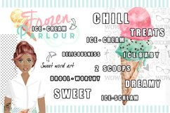 Watercolour Ice creams and Girl Graphics Product Image 6
