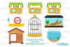 Pets Clipart, Pet Shop Clip Art, Puppy, Kitten, Goldfish PNG Product Image 3