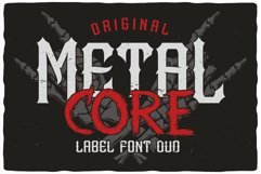 MetalCore Font Duo Product Image 1
