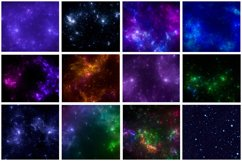 12 images - Galaxy background . Colorful starry outer space. Product Image 1