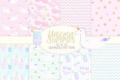 Unicorn Summer Digital Paper Product Image 1