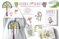 Cute Zebra. Kids horse. Watercolor baby animals clipart Product Image 5