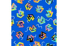 Vector Pattern 80s. Seamless Background. Retro Memphis Product Image 1