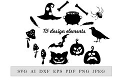 Halloween decor collection, 15 elements Product Image 1
