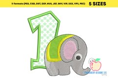 An Elephant Near The One Applique Product Image 3