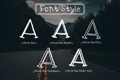 Alvin Duo - 5 Font styles and 150plus Swashes Product Image 4
