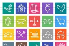 50 Farm Line Multicolor B/G Icons Product Image 2