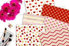 Gold Valentine Digital Paper Pack Product Image 4